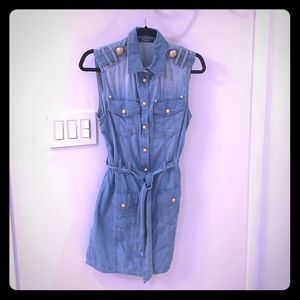 Balmain denim mini dress, never worn.